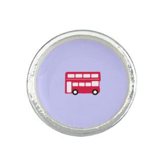 Big Red Bus Photo Ring
