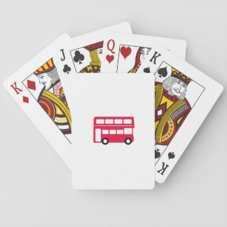 Big Red Bus Playing Cards