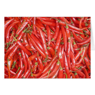 big red chillies card