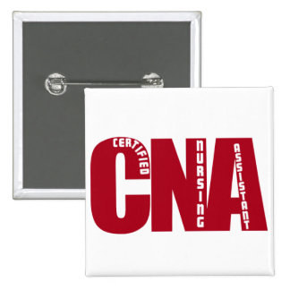 BIG RED CNA - CERTIFIED NURSING ASSISTANT 2 INCH SQUARE BUTTON