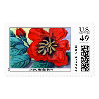 Big Red - Customized large Postage Stamp