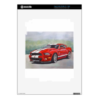 Big Red Decals For iPad 2