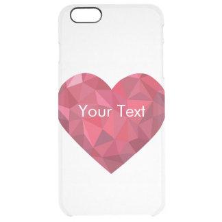 Big Red Diamond Heart Transparent Clear iPhone 6 Plus Case