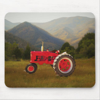 Big Red Farm Tractor Mouse Pad