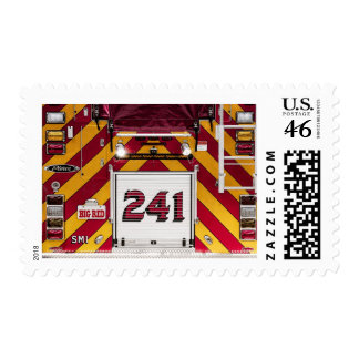 BIG RED Fire Engine Stamp