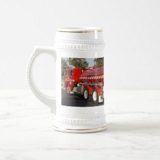 Big_Red_Fire_Engine_White_Beer_Stein_Mug. Jarra De Cerveza