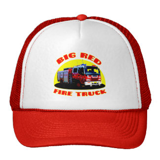 Big Red Fire Truck Trucker Hat