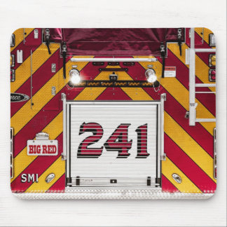 Big Red Fire Truck Mouse Pad