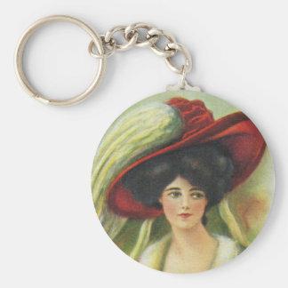 Big Red Hat Keychain