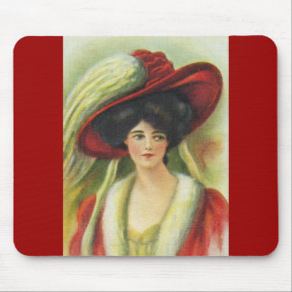 Big Red Hat Mouse Pads