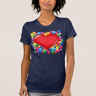 Big red heart at balloons T-Shirt