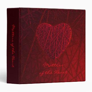 Big Red Heart binder