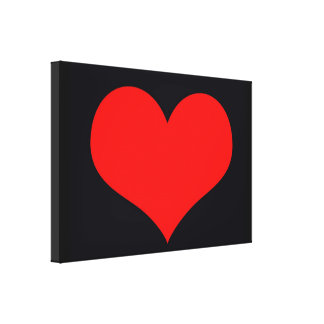 Big red heart canvas