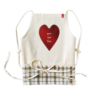 Big red heart for Valentine's Day Zazzle HEART Apron