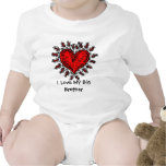 Big Red Heart I Love My Big Brother Baby T Romper