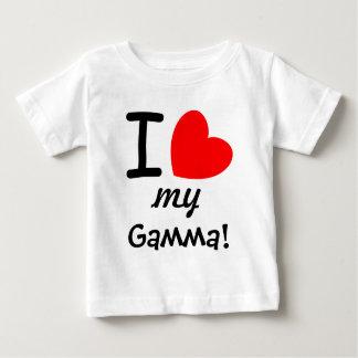 Big Red Heart I Love My Gamma V02 Baby T-Shirt