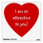 Big Red Heart Love Crush_So Attractive Wall Skin