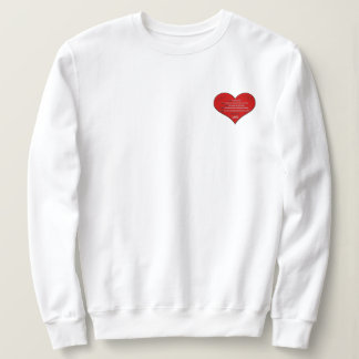 Big Red Heart Love Poem Sweatshirt