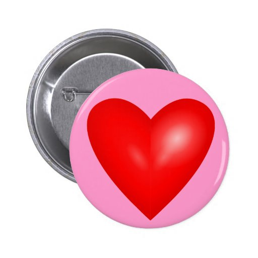 Big Red Heart of Love Pinback Button