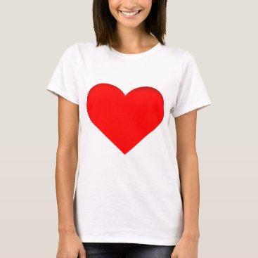 Valentines Themed Big Red Heart Print Design T-Shirt