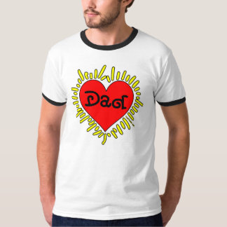 Big Red Heart Tee - Love You Dad