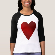 Big Red Heart | Valentines Day T-shirt at Zazzle