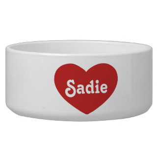 Big Red Heart With Name Bowl