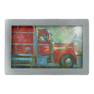 Big Red Heavy Truck for Truckers & Truck-Lovers Belt Buckle