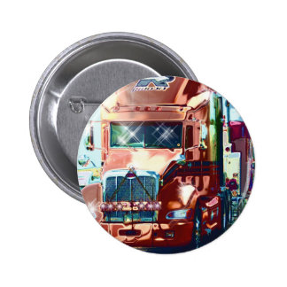 Big Red Heavy Truck for Truckers & Truck-Lovers Pinback Buttons