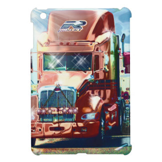 Big Red Heavy Truck for Truckers & Truck-Lovers iPad Mini Cases