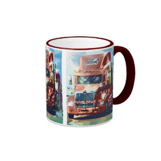 Big Red Heavy Truck for Truckers & Truck-Lovers Ringer Mug