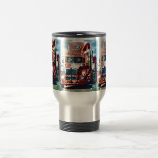 Big Red Heavy Truck for Truckers & Truck-Lovers Travel Mug