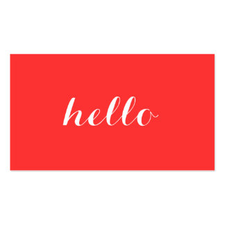 Big Red Hello II Simply Stated Business Card