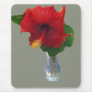 Big Red Hibiscus Mouse Pad