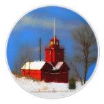 Big Red Lighthouse, Holland, MI Ceramic Knob