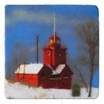 Big Red Lighthouse, Holland, MI Trivet