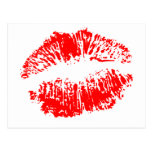Big Red Lips Postcard