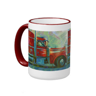 Big Red Lorry Truck-lover's Drinking Mug