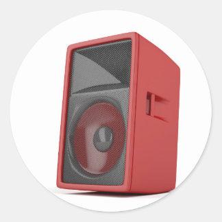Big red loudspeaker classic round sticker