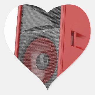 Big red loudspeaker heart sticker