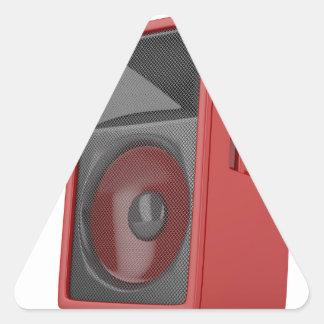Big red loudspeaker triangle sticker