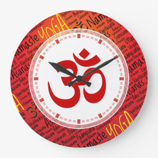 Big Red Om - Forget What Time it Is Yoga Wallclocks