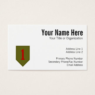 Big Red One, 1st ID Patch Business Card