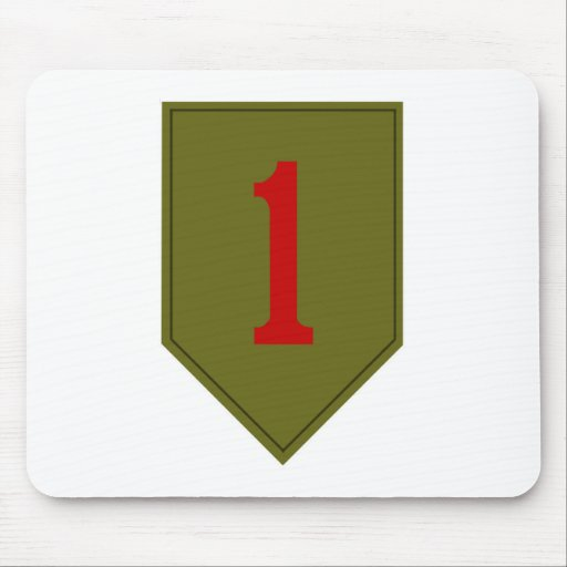 Big Red One, 1st ID Patch Mouse Mats