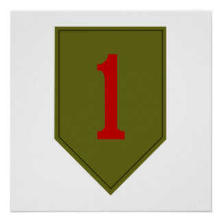 Big Red One, 1st ID Patch Poster