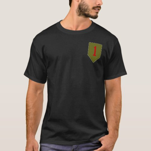 Big Red One 1st ID Patch T_Shirt