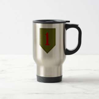 Big Red One, 1st ID Patch Travel Mug