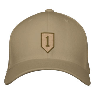 Big Red One - Desert Embroidered Hat