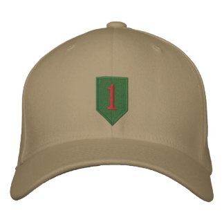Big Red One Patch Embroidered Baseball Hat