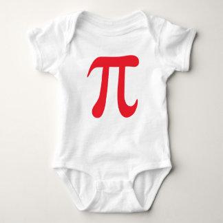 Big red pi symbol infant creeper